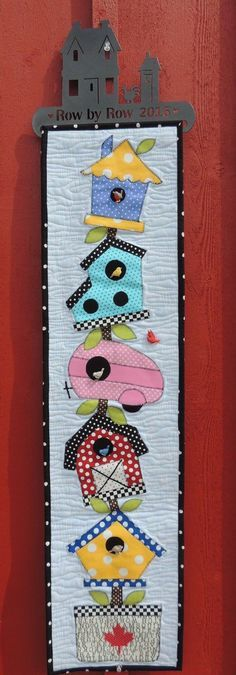 Long skinny wall quilt