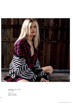 Frida Aasen Wears Rock Style in Sanctuary Fall 2014 Ads by David Roemer