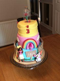 Moana, Trolls and Beauty and the Beast cake
