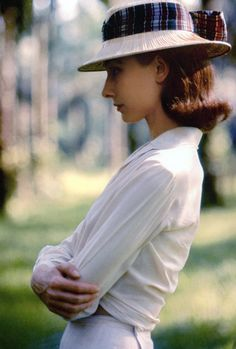 Audrey Hepburn photographed by Leo Fuchs while filming The Nun's Story, 1958