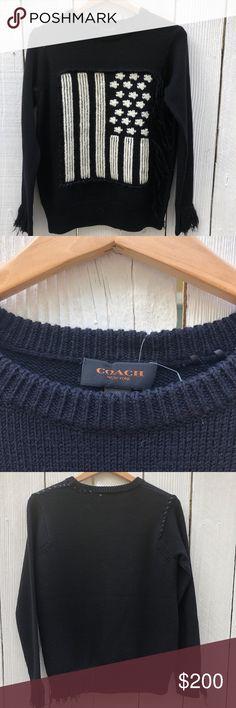 COACH sweater! Tags are on! Brand new American flag coach sweater! Coach Sweaters