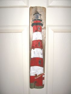 Assateague Island Lighthouse VA Painting on by Beaksnbeacons. $16.95 USD, via Etsy.