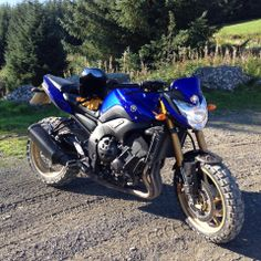 #Yamaha #FZ8 riding on TKC 80s in the valleys of #SouthWales.......One mean look bike