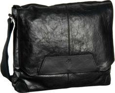 Marc O´Polo Postbag M Oily Buffalo Vaccheta Black - Umhängetasche