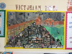 Victorian Street Display Victorian History, Victorian Street, Victorian Art, Victorian Homes, Class Displays, School Displays, Classroom Displays, School Themes, School Ideas