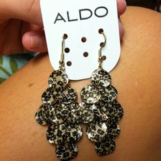 Obsessed with these leopard print earrings- $8 aldo