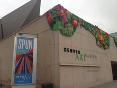 At the Denver Art Museum during their 'Spun' exhibition, artwork created by the 'Ladies Fancywork Society'