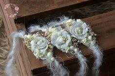 White delicate tieback IDA, mohair headband,newborn,sitter photography prop,UK seller