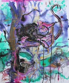 Alice in Wonderland # 4 / 2013 / acrylic and ink on paper / 50 x 40 cm by Stefan Venbroek