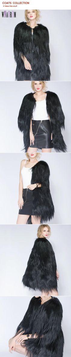 78698825b894 2018 Ladies Fashion Mountain Real Sheepskin Coat, Warm and Sexy Fur Coat.  Long Hair