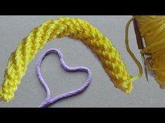 DIY Crochet Cordon Tutorial - How To Make Crocheted i-cord Crochet I Cord, Crochet Video, Diy Crochet, Crochet Stitches, Crochet Baby, Tutorial Crochet, Amigurumi Tutorial, Easy Crochet Patterns, Amigurumi Patterns