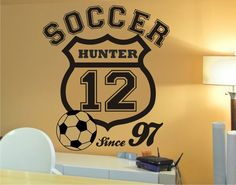 Soccer Wall Decals at Jack and Jill Boutique