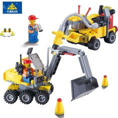 Kazi 6092 New City Construction Excavator 196Pcs Building Blocks Educational Bricks Children Best Gifts Compatible Major Brand #Affiliate