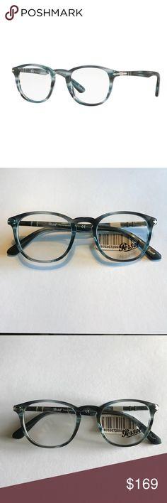 254ad69bb6f6 PERSOL Eyeglasses PO3143V Striped Grey Retail  260 PERSOL Eyeglasses  PO3143V 1051 Striped Grey 49MM Retail  260
