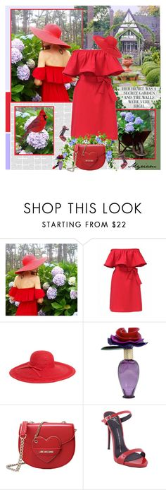 """""""GRACEFUL GARDEN"""" by lovemeforthelife-myriam ❤ liked on Polyvore featuring Chicwish, Magid, Marc Jacobs, Love Moschino and Giuseppe Zanotti"""