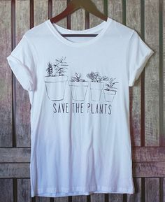 Succulent Flowers Plants Tee Shirt // Save the by Clarafornia