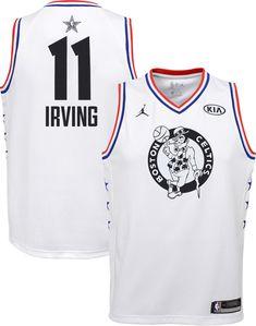 0f0283690 Jordan Youth 2019 NBA All-Star Game Kyrie Irving White Dri-FIT Swingman  Jersey