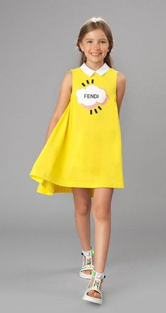 Fendi Junior moda alegre para niños. Fashion Fendi for children, summer collection.