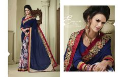 http://www.thatsend.com/shopping/lp/fvp/TESG202442/i/TE265500/iu/blue-georgette-designer-saree  Blue Georgette Designer Saree Apparel Pattern Embroidered. Work Embroidery, Border Lace. Blouse Piece Yes. Occasion Ceremonial, Festive. Top Color Blue.