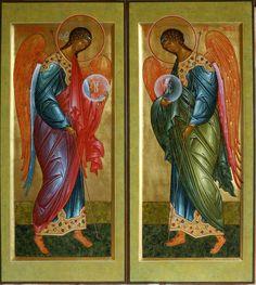 "heroinscarlet: "" Archangel Michael and Gabriel """