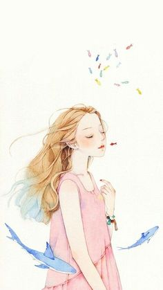 堆糖-美好生活研究所 Art And Illustration, Character Illustration, Illustrations, Character Art, Character Design, Anime Art Girl, Cute Drawings, Cute Art, Painting & Drawing