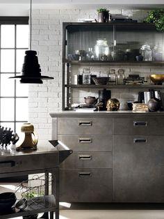 Cocina blanca vintage industrial de Diesel para Scavolini