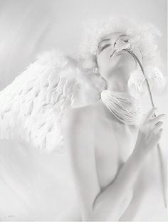 Thorns and stings and those such things just make stronger our angel wings. All White, Pure White, Snow White, White Light, Angels Among Us, Angels And Demons, Foto Fantasy, Blanco White, Mystique