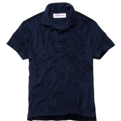 Orlebar Brown Terry Towelling Polo Navy