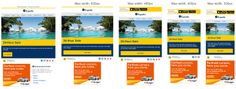 Responsive Email Design from Expedia, showing you where the breakpoints are. Spot the difference.