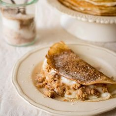 We'll just be over here with our milk tart pancakes, don't mind us! #milktartweek Custard Recipes, Tart Recipes, Milk Tart, Tart Filling, South African Recipes, Non Stick Pan, Desert Recipes, Tray Bakes, Delicious Desserts
