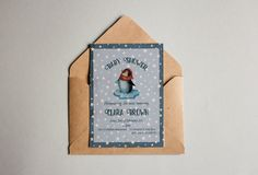 Starry Night Baby Shower Card, Invitation Template, Editable- Instant download by AlexeisPrintables on Etsy