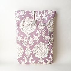 Items similar to Purple Laptop Sleeves All Sizes 11 12 13 14 15 inch Cases Covers for All Brands Lavender Damask Macbook Asus Dell Surface Cord Pocket HP on Etsy Macbook Air 13 Inch, Macbook Pro Case, Laptop Case, Laptop Brands, Computer Sleeve, Custom Laptop, Ipad Sleeve, Laptop Covers, Girls Bags