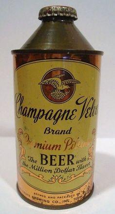 Vintage Cone Top Beer Cans Vintage Packaging, Beer Packaging, Vintage Labels, Iodized Salt, Beer Can Collection, Old Beer Cans, Label Shapes, Beer 101, Ale Beer