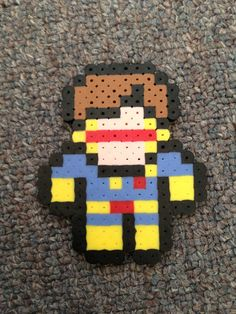Marvel XMen Cyclops 8Bit Perler Bead Sprite by GothamCityCrafts