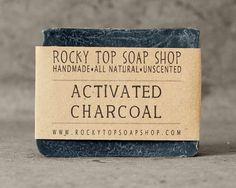 Bamboo Activated Charcoal Soap - All Natural Soap, Handmade Soap, Unscented Soap, Detox Soap, Vegan Soap