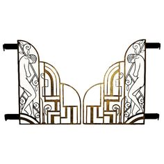stunning art deco gates in black and gold. is there such a thing as an art deco garden?