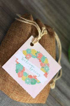 Welcome Spring Tags
