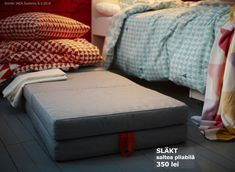 Save space by turning play material into bed material. IKEA SLÄKT children's mattresses make comfy guest beds for friends. Layer two on top of on another for an extra cozy night. Bedding And Curtain Sets, Bedding Sets, Luxury Duvet Covers, Luxury Bedding, Ikea Fans, Toddler Chair, Inspiration Design, Interior Inspiration, Design Ideas