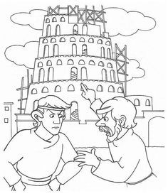 Tower of Babel Coloring page Faith Sunday School Pinterest