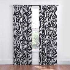 Kids Zebra Blackout Window Curtain Panel