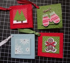 Christmas Gift Tags by lizzier - Cards and Paper Crafts at Splitcoaststampers Christmas Paper Crafts, Noel Christmas, Handmade Christmas, Christmas Collage, Christmas Tables, Nordic Christmas, Modern Christmas, Christmas Stockings, Holiday Gift Tags
