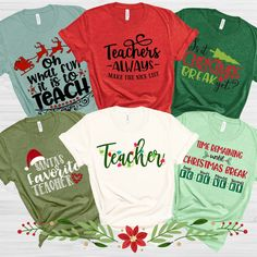 Christmas Break Teacher Tees - Teacher Shirts - Ideas of Teacher Shirts - 1 Christmas Break Teacher Tees Best Picture For Cricut vs silhouette For Your Taste You are lo