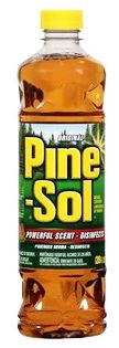 Pine-Sol, regular.  Even my great-grandmother used it.