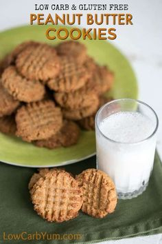Coconut Flour Peanut Butter Cookies Low Carb and Keto. One of the best peanut butter keto recipes. So be sure to add this to your keto peanut butter recipes collection! Keto Cookies, Coconut Flour Cookies, Gluten Free Peanut Butter Cookies, Sugar Free Cookies, Low Carb Peanut Butter, Peanut Butter Recipes, Coconut Milk, Low Carb Peanutbutter Cookies, Chip Cookies