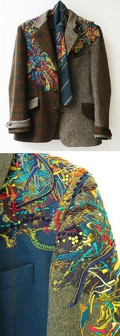 embroidered clothing by Ayasha Wood found on https://fishinkblog.wordpress.com