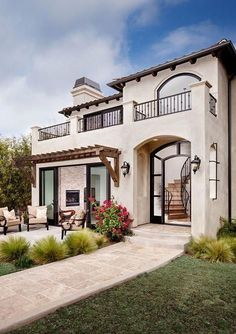 Exterior design home tuscan style homes, colonial style homes, spanish style homes, spanish Mediterranean Homes Exterior, Mediterranean House Plans, Mediterranean Architecture, Mediterranean Home Decor, Modern Architecture, Contemporary Buildings, Architecture Quotes, Spanish Style Homes, Spanish House