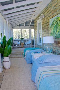 Ladies Street sleeping porch, Jacksonville, FL. Starr Sanford Design.