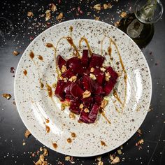 beetroot meets walnuts Beetroot, Panna Cotta, Salads, Ethnic Recipes, Food, Proper Tasty, Pray, Salad, Hoods