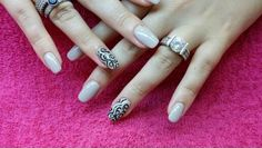 Acrylic nails with nailart