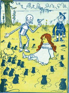 Denslow Wizard Of Oz Poster 10 W Dorothy Meets The Queen Of The Field Mice W